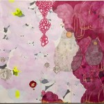 Weeping Plum, mixed media on paper, 48 x 48 inches, 2010